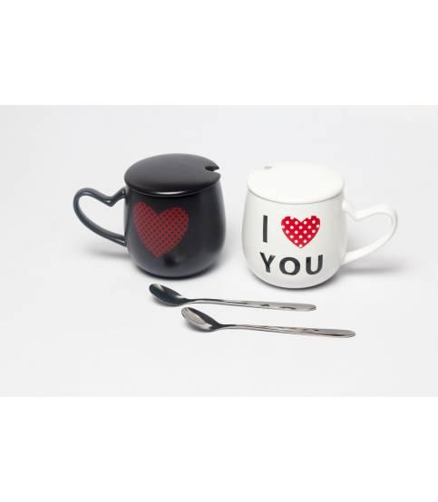 Couples Mug Black And White