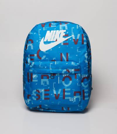 NIKE Blue Random Letter Backpack