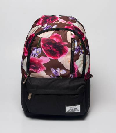 Xike Madi Pink & Grey Color Floral Girls Backpack