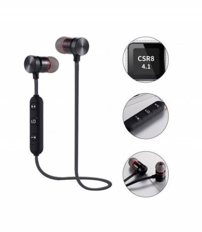 Black Magnetic Metal Bluetooth Headphone
