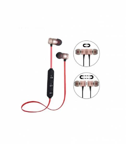 Gold Magnetic Metal Bluetooth Headphone
