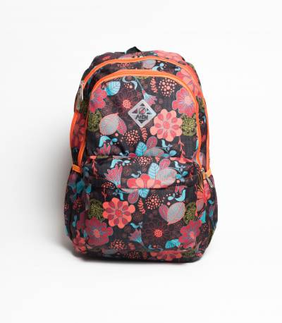 A&EM Floral Orange Color School / College Bag