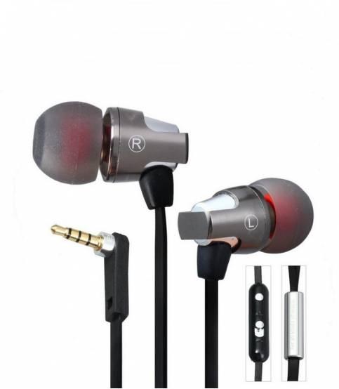 Awei ES860hi Super Bass Metal Headphone with Mic Volume Control (Black)