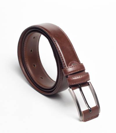 Buckle brown belt