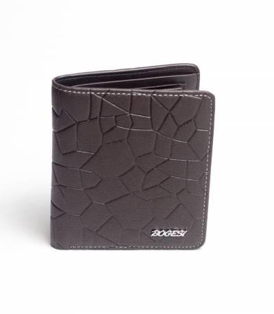 Bogesi Leather Chocolate Shadow Wallet