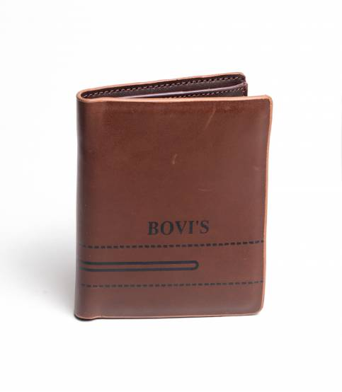 Bovi's Brown Leather Wallet