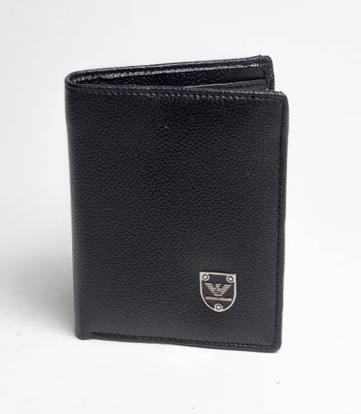Giorgio Armani Black Leather Wallet