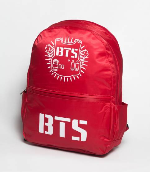 BTS Red Solid Red Backpack