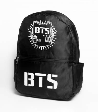 BTS Solid Black Fabrics Backpack
