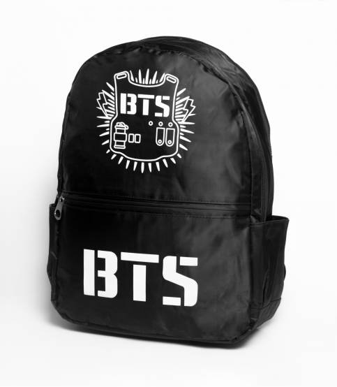 BTS Black Solid Black Backpack