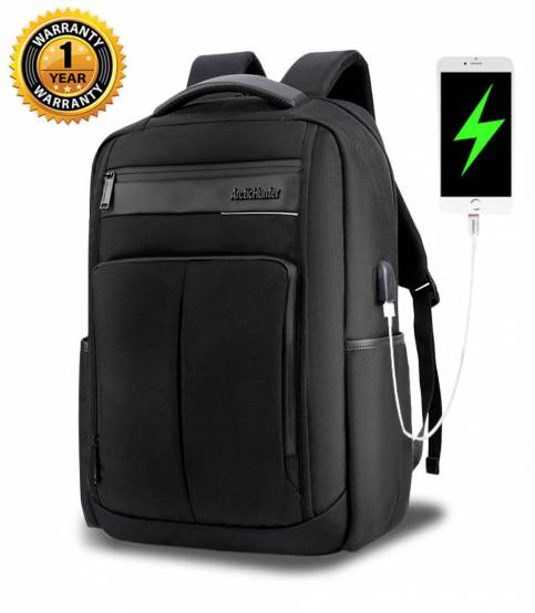 ARCTIC HUNTER Waterproof Travel Black Backpack V2