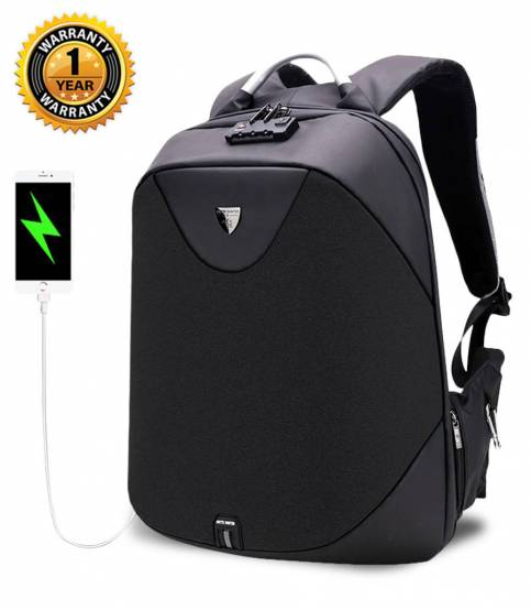 ARCTIC HUNTER Anti-Theft Black Backpack