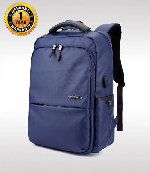 ARCTIC HUNTER Waterproof Oxford Blue Laptop Business Men Backpack