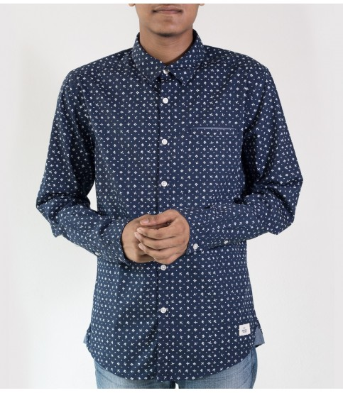 EDC Esprit Navy All-Over Print Shirt
