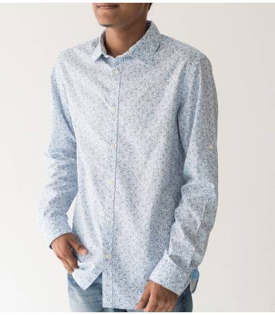 Jack & Jones Sky Blue Flower Print Shirt