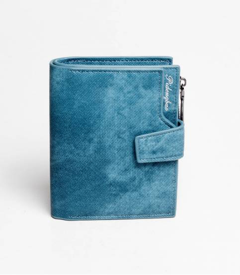 Pidengbao Blue Leather Wallet