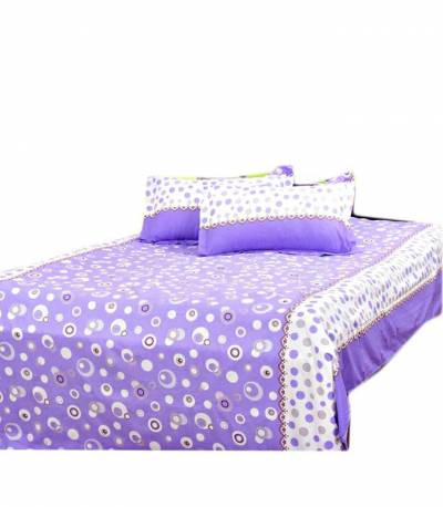 Home Tex Bluemoon Purple Bedsheet