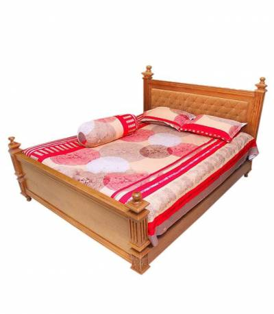 Home Tex Round Ball Red Bedsheet