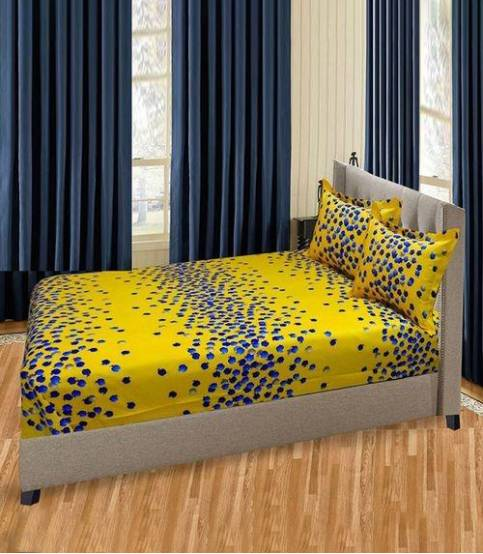 Home Tex Yellow Apple Bedsheet