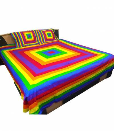 Home Tex Rainbow Penel Bedsheet