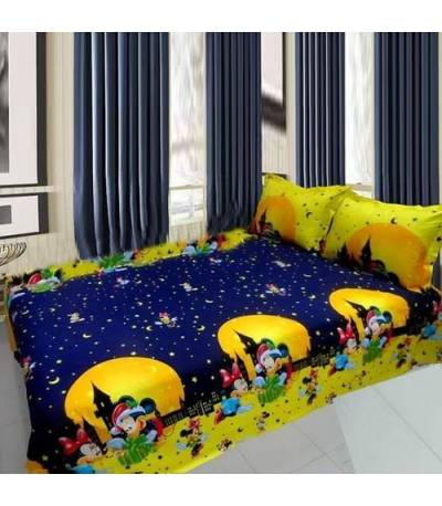 Home Tex Micky Mouse Bedsheet
