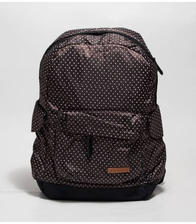 Brown Backpack With Polka Dot