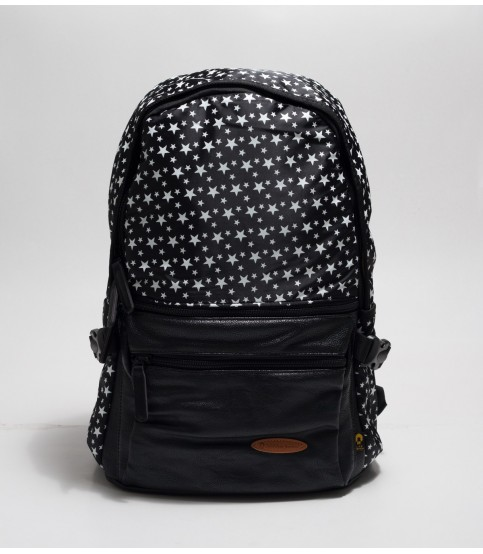 Black Backpack With Star