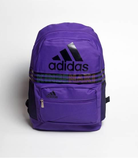 Adidas Pink & Blue Stripes Backpack