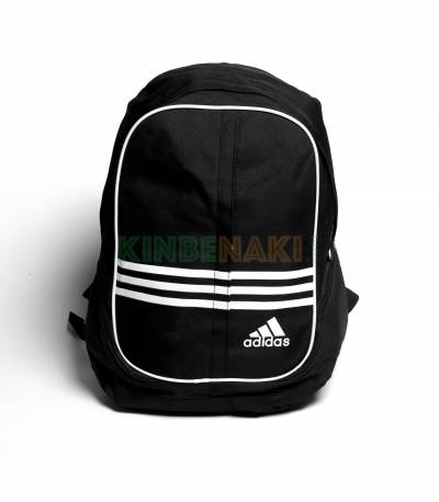 Adidas Round Black & White Stripes Backpack