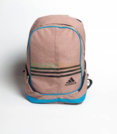 Adidas Round Pink & Black Stripes Backpack