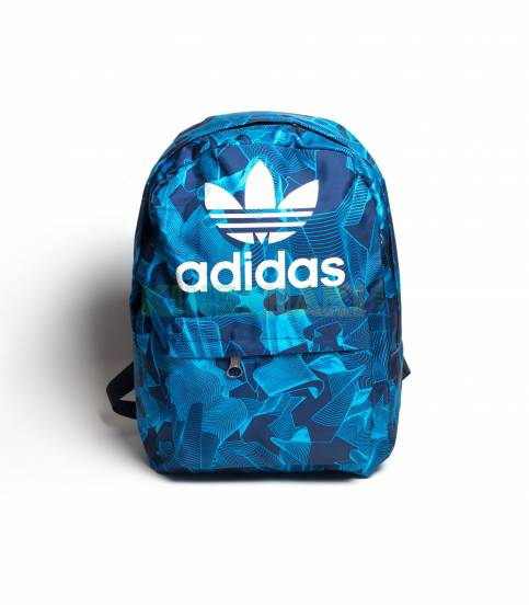 Adidas Round Pink & Black Stripes Backpack