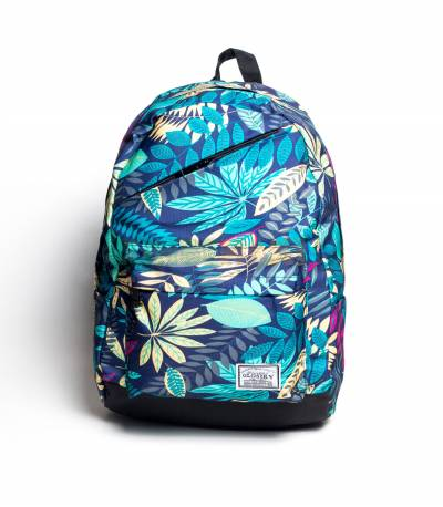 Glory Green Flower Backpack For Girls