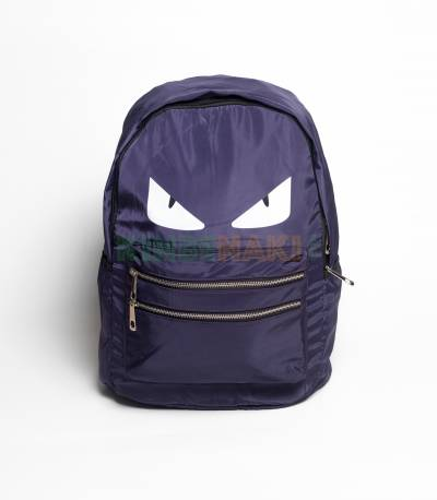 Eye Print Purple Backpack