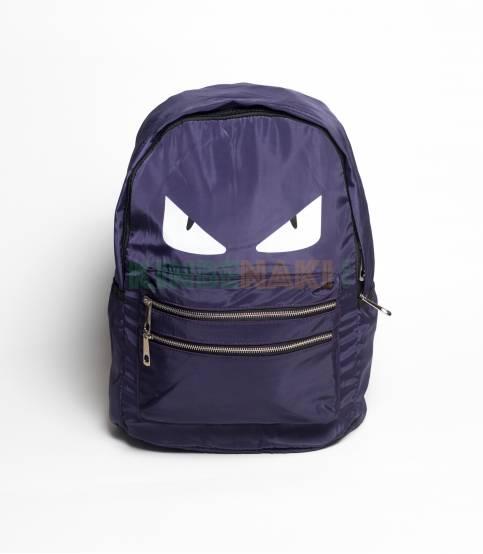 Eye Print Purple Backpack