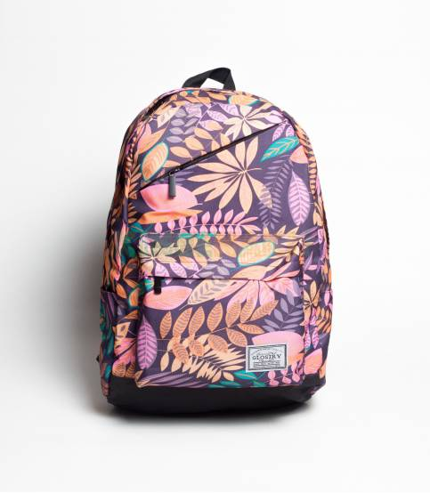 Glory Green Flower Backpack For Girls
