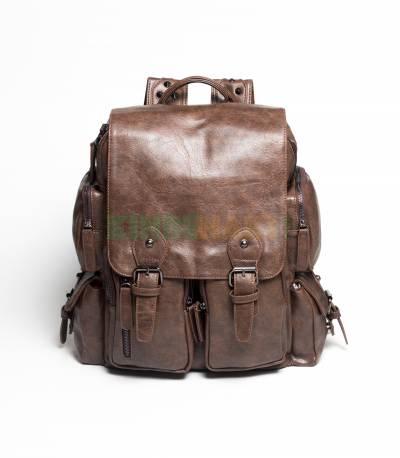 Langjie Brown Backpack