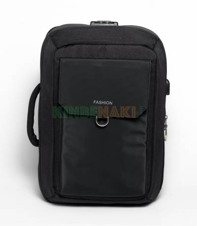 Fashion Anti-Theft Black Backpack V2
