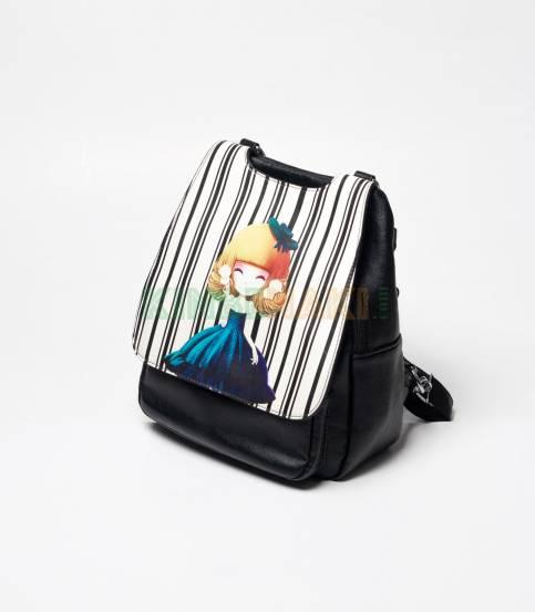 Sheng Cute Little Girls Black Mini Backpack