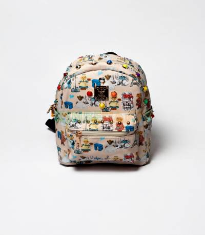 MCM Paris And Cute Teddy Off white Mini Backpack For Girls