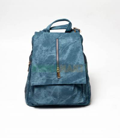 Denim Design Blue Girls Mini Backpack