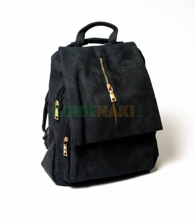 Denim Design Black Girls Mini Backpack
