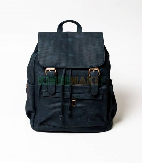 Dark Navy Dotted Girls Mini Backpack