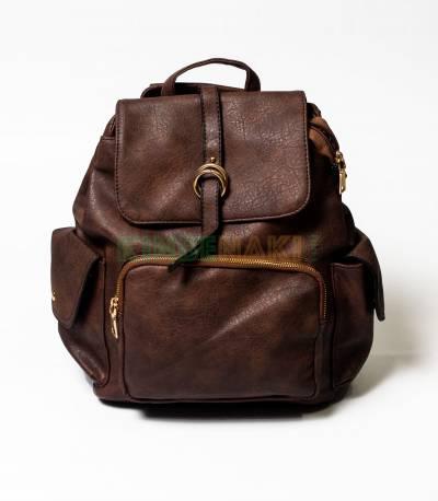 MCM Coffee Girls Mini Backpack